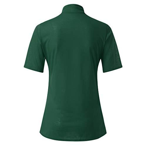Donna green Donne Estiva Corte Corta Maglietta Manica Ragazza Magliette Maglione Dolcevita Camicia Verde Top Tumblr Tee Camicetta Zolimx Maglia 5xFYw
