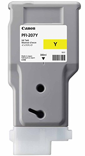Canon PFI-207 300ml Ink Tank for Canon iPF680/685/780/785, Yellow