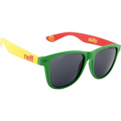 ( Neff Daily Men's Lifestyle Sunglasses - Rasta / One Size Fits All)