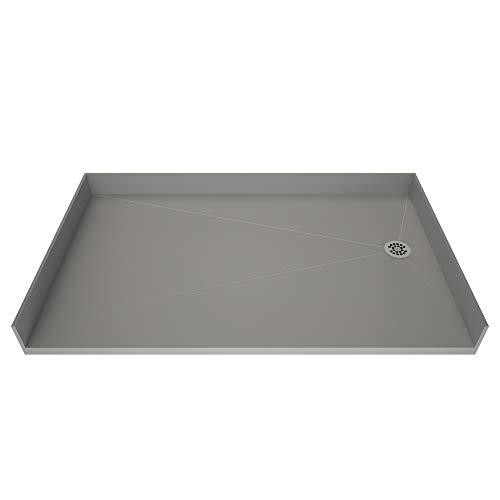 """Tile Redi USA B3754R-BFRDPVZ Redi Free Shower Pan 54"""" W x 37"""" D Polished Chrome"""