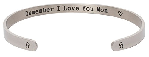 Price comparison product image Bracelet Armband - I Love You Mom Forever And Always - Elegant Stainless Steel Jewelry For Mothers And Daughters