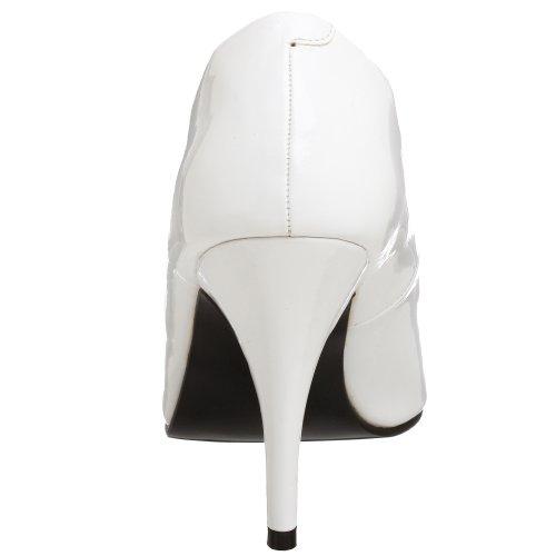 Donna Bianco Tacco Scarpe Weiß 420 lack Pleaser Col Vanity xYZXq7C7