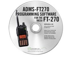 Yaesu ADMS-270 Programming Software on CD with USB Computer Interface Cable for FT-270R by RT Systems