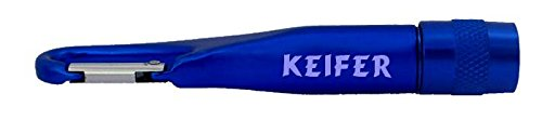 Carabiner Flashlight with text Keifer (first name/surname/nickname)