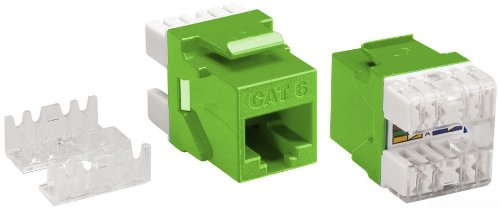 8 Position Allen Tel AT66-05 Category 6 High Density Jack Module Green T568-A//B Wiring 1 Port 8 Conductor Allen-Tel 110 Termination