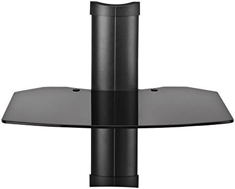 Omnimount Tria 1 B 1-Shelf Wall Furniture – Black Dark Glass