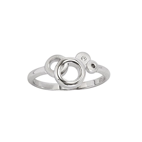 Ice925 Interlocking Circles with 1 Diamond Size 7 for sale  Delivered anywhere in Canada