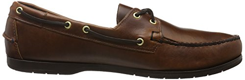 Sebago Endeavor, Scarpe da Barca Uomo Marrone (Brown Oiled Waxy Lea)