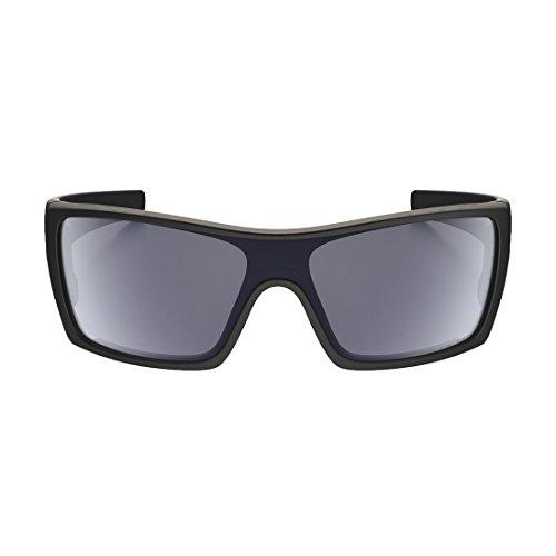 Oakley Men's Batwolf Polarized Rectangular Sunglasses,Matte Black Frame/Grey Lens,one - Sunglasses Original Oakley