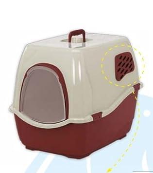 Marchioro - Bandeja de arena para gatos con puerta y filtros (rojo): Amazon.es: Productos para mascotas