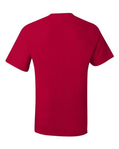 Deep Asimmetrico T Hanes shirt Uomo Red YqSIgRx
