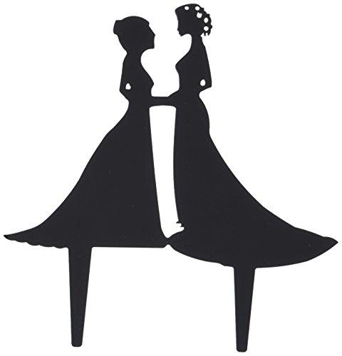 (Unik Occasions Lesbian Couple Silhouette Acrylic Wedding Cake Topper)