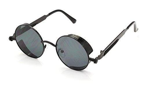 Negro Hombres Sol las y Gafas Rox Retro de Negro de Ro Steampunk Señoras p7wZUq