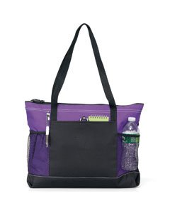 Gemline Select Zippered Tote Bag 1100 Purple from Gemline