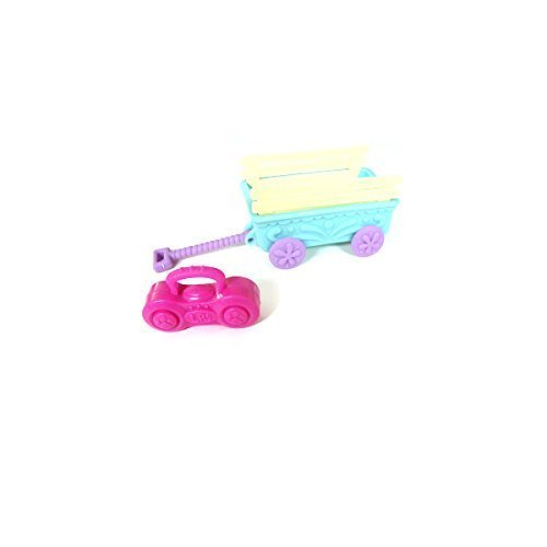 Littlest Pet Shop Custom Outdoor Park Set 2 Pcs - Wagon + Stereo - For Dachshund Great Dane Cat (Out Of Package/OOP)