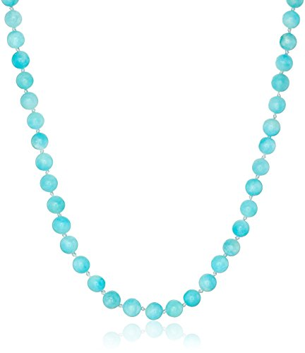 Amazonite Jewelry (Sterling Silver 6mm  Amazonite Necklace, 18