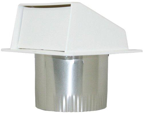 Builder's Best EX-EVW 04 4-Inch Diameter Plastic Eave Vent, White (Plastic Vent)