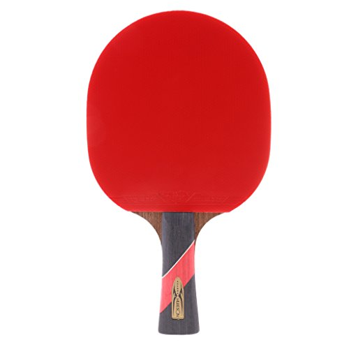 MagiDeal Wood Shakehand Grip Style Table Tennis Racket Ping Pong Bat Paddle - Lightweight & Practical & Durable by MagiDeal