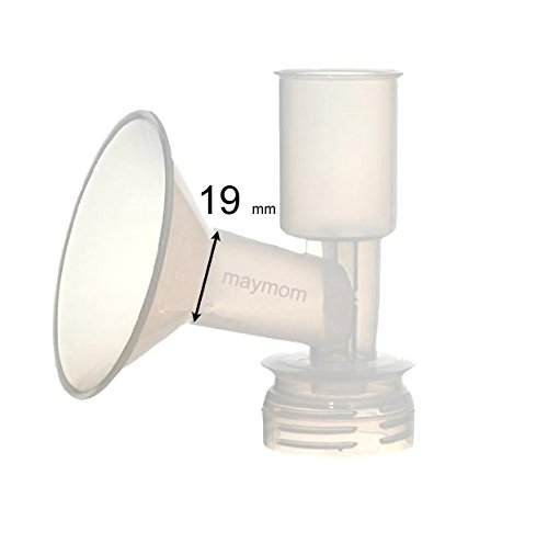 (Maymom Breast Shield Flange for Ameda Breast Pumps (19 mm, 1-Piece))