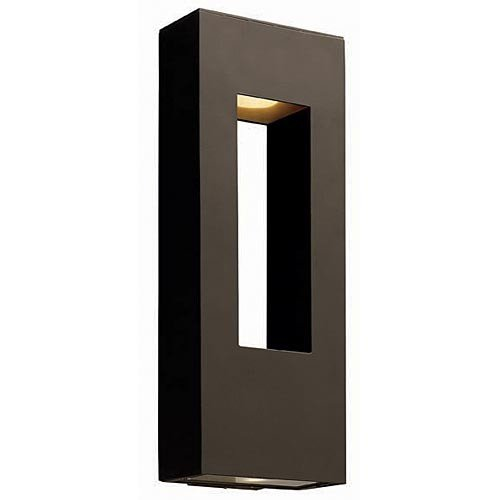 Hinkley 1649BZ, Atlantis Outdoor Wall Sconce Lighting, 40 Total Watts Halogen, Bronze For Sale