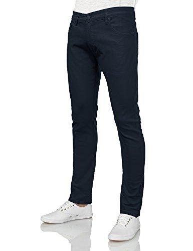 IDARBI Mens Basic Casual Colored Skinny Cotton Twill Pants NAVY 34/30