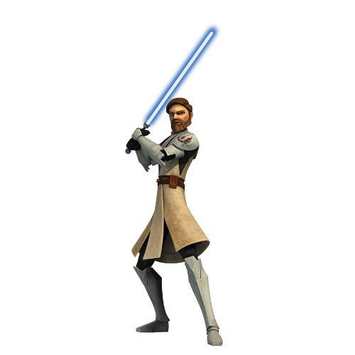 RoomMates RMK1403GM Star Wars: the Clone Wars Obi-Wan Glow i