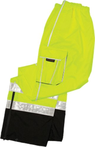 ML Kishigo RWP106 Brilliant Series High-Viz Rainwear Pant, Fits Large and Extra Large, Lime