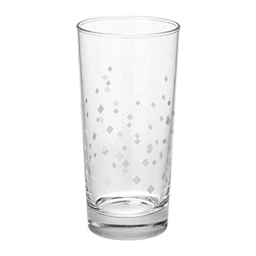 IKEA Vinter 2018 Glass Patterned White / 6 Pack 004.033.51 Size 14 oz