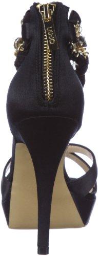 Para Vestir Liu Jo S12067 De T0380 Mujer Satén Sandal Negro Sandalias nFqT6S