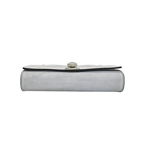 quilted flap mini Italian Light dark crossbody crossbody clutch Grey purse Clutch DIONISIA leather chain bag nickel bag pAw7qwRFT