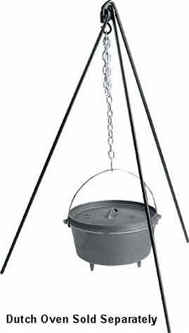 Camp Chef TRIPOD-050 Dutch Oven Tripod for this list of coolest camp Dutch oven accessories