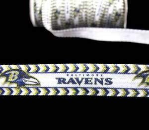 5 Yds Baltimore Ravens Football FOE Fold Over Elastic for Hair Ties Ribbon 5/8