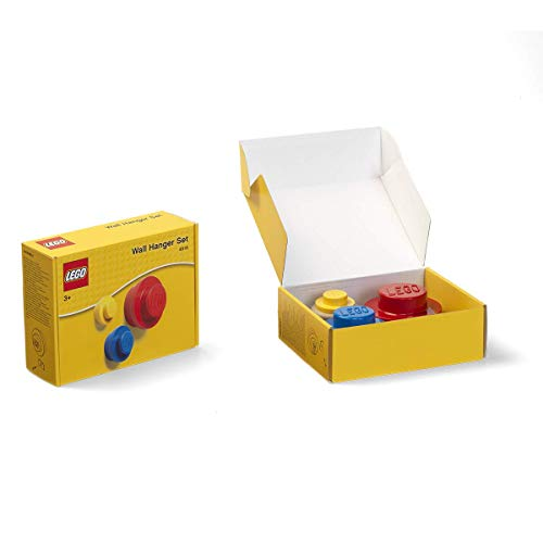 Room Copenhagen 40161732 Lego Wall Hanger Set, One Size, Red/Blue/Yellow