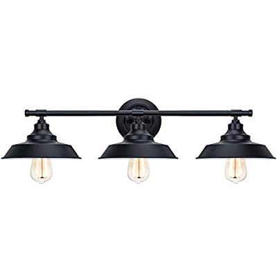 Bathroom Vanity Light Wall Sconce Industrial Kitchen Wall Lighting Oil Rubbed Black Baking Paint Finish (3-Light)