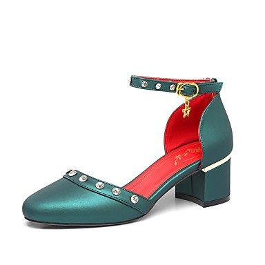 Le donne sexy elegante sandali donna tacchi Primavera Estate Autunno Inverno d' Orsay & in due pezzi, similpelle Party & abito da sera informale HeelRivet Chunky Glitter spumante , beige , us8.5 / EU3