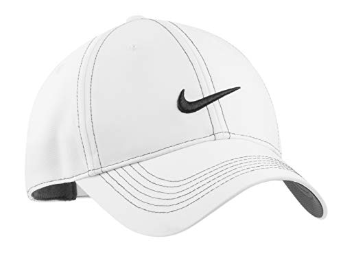 Nike Original Contrast Stitching Water Resist Swoosh Embroidered Baseball Cap - White -