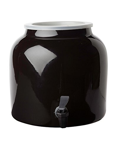 New Wave Enviro Porcelain Water Dispenser, Black ()