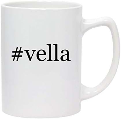 #vella - 14oz Hashtag White Ceramic Statesman Coffee Mug