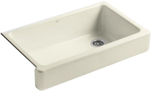KOHLER K-6488-FD Whitehaven Self-Trimming Apron Front Single Basin Sink with Short Apron, Cane Sugar