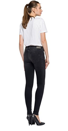 Denim REPLAY Straight Nero Donna Jeans 7 Black Zackie YOYRqwF