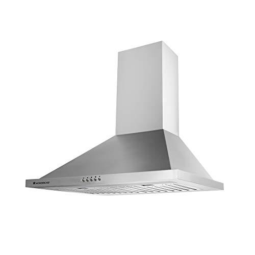 Wonderchef 60cm 1250m3/hr Chimney(Milano, Baffle Filter,Steel/Grey)