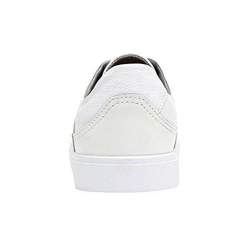 Scarpe Bianco Ginnastica Allacciare Jamron Elegante Scarpe Casuale Uomo Sportive Ecopelle Brogue da Stile YqBTUwxCp