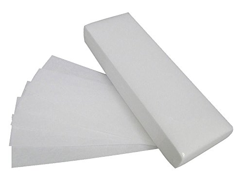 Pawaca 100 Pcs Professional Facial Body Hair Removal Wax Strips Paper Depilatory Nonwoven Paper Nonwoven Epilator