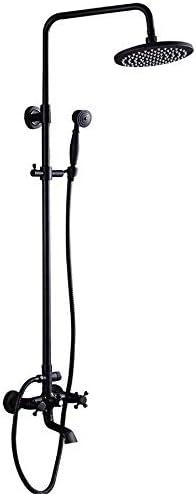 ヨーロッパスタイルのアンティーク浴室黒真鍮雨冷たいお湯の蛇口/風呂の蛇口真鍮シャワーヘッドハンドシャワーホース