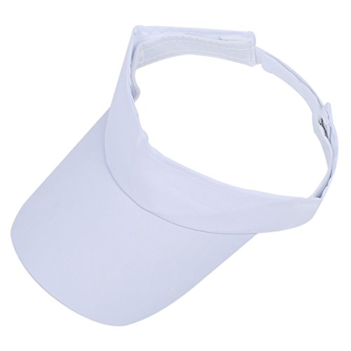 キャップ,SODIAL(R)白いスポーツバイザー帽子キャップ テニスゴルフ汗止めヘッドバンドUVプロテクション