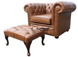 Designer Sofas4u Chesterfield Parte Baja de la Espalda sillón ...