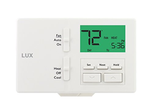 2 Day Programmable Thermostat - Lux Products TX100E TX100E-7 Thermostat, White