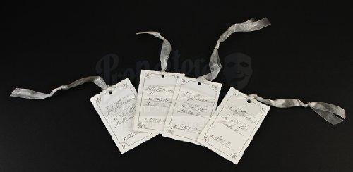 - Original Movie Prop - Belle en Blanc Fritz Bernaise Dress Tags - Bridesmaids - Authentic