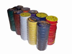 "Electrical Tape 3/4"" x 66' UL/CSA 10 roll pack several colors."