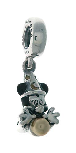 PANDORA Disney Sorcerer Mickey 925 Sterling Silver Charm - 797493ENMX